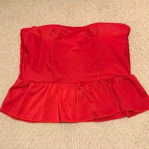 Peplum swim suit top